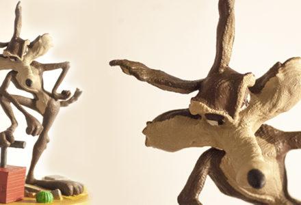 Sculpture de Wile E. Coyote en 3D