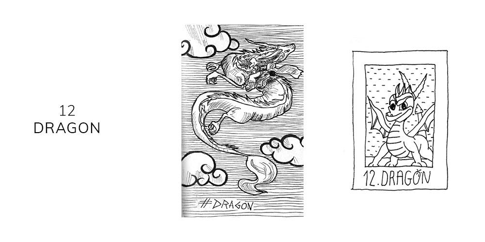 Dessin inktober 2019 dragon