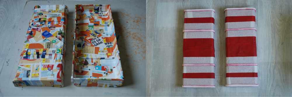 Papier mâché et peinture