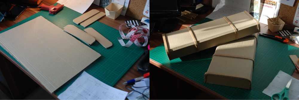 Réalisation du coffret en carton
